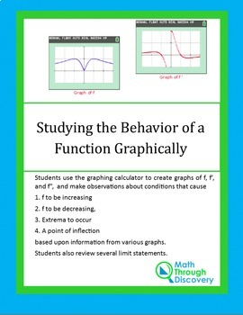 Calculus:  Studying the Behavior of Functions Graphically