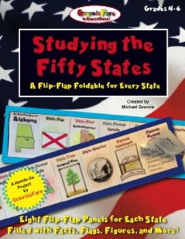 50 States -- Studying the Fifty States: A Flip-Flap Book for Every State