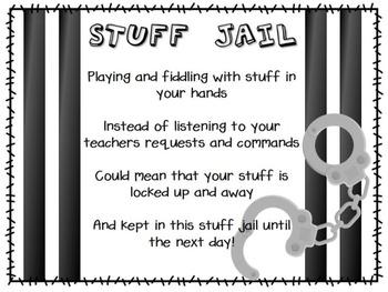 Stuff Jail Poem and Label FREEBIE!