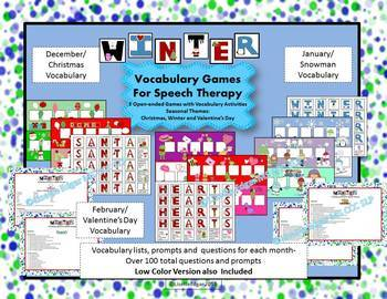 Christmas and Winter Speech Therapy Bundle
