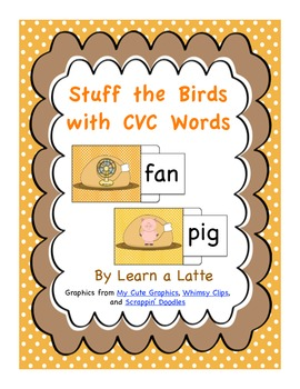 Stuff the Birds with CVC Words (Thanksgiving Literacy Activity)