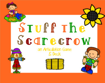 Stuff the Scarecrow: an Articulation Game - S Deck