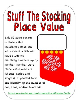 Stuff the Stocking - Christmas Place Value