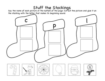 Stuff the Stockings (Christmas Beginning Sound Sort)