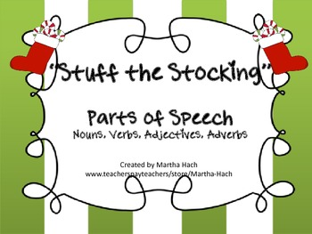 """""""Stuff the Stockings"""" Holiday Parts of Speech game"""