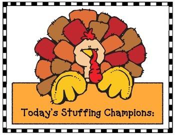 """Thanksgiving Activities: """"Stuff the Turkey!"""""""