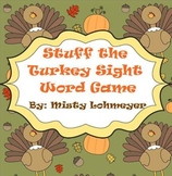Stuff the Turkey Sight Word Game