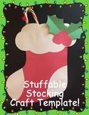 Stuffable Stocking Craft Template!