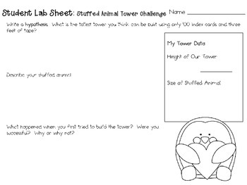 Stuffed Animal Tower ~ Monthly School-wide Science Challenge ~ STEM