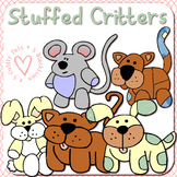 Stuffed Critters - 5 Adorable Clip Art Animal Toys