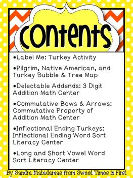 Stuffed Like a Turkey Thanksgiving Pack {Graphic Organizers and Centers}