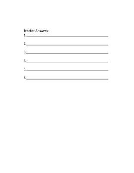 Stump/Quiz the Teacher (Middle School)