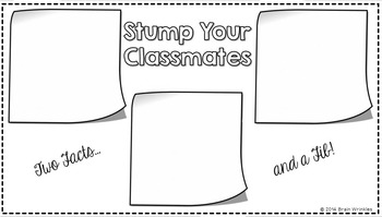 Stump Your Classmates Icebreaker Activity