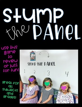 Stump the Panel - Whole Class Game