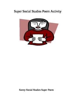 Stupendous Super Social Studies Poem Activity