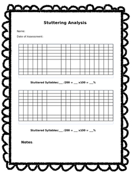 Stuttering Analysis Made Simple