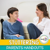 Stuttering Handouts | Parents Handout for Fluency Disorder