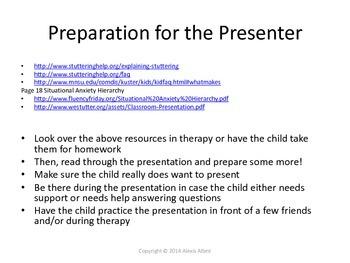 Stuttering Classroom Presentation