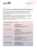 Stuttering (Fluency) Activity: Make Self-Disclosure Statem