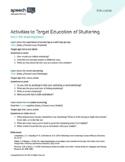 Stuttering (Fluency) Lesson: The Social Experience of Stut