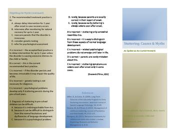 Stuttering Myth-Busting Brochure