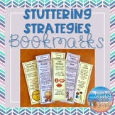 Stuttering Strategies Bookmarks: techniques for fluency therapy