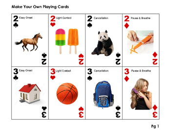 Stuttering Strategies Playing Cards