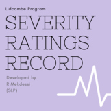 Stuttering Therapy - Lidcombe Program Severity Ratings Rec