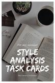 Style Analysis Task Cards - For any text or passage!