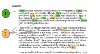Style Gallery: examples of excellent writing analyzed with exercises