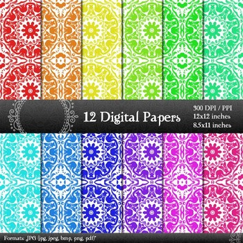 Style Paper Vintage Cover Instant Download Lot  Decoration Piecing Scrapbook A4