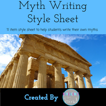 Myth Writing Style Sheet