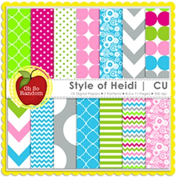 Style of Heidi {Papers for Commercial Use}