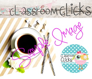 Styled Coffee Natural Stripes_165: Hi Res Images for Bloggers & Teacherpreneurs