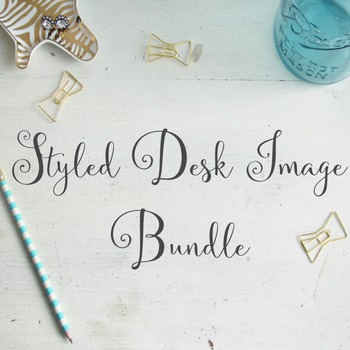 Styled Desk Image Bundle