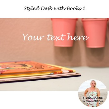 Styled Desk with Books 1