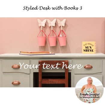 Styled Desk with Books 3