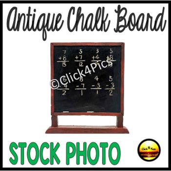 Stock Photo: Vintage CHALK BOARD