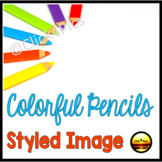 Back to School Styled Image for Commercial Use COLORFUL PENCILS