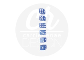 Styled Images - Blue Dice