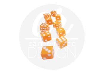 Styled Images - Orange Dice
