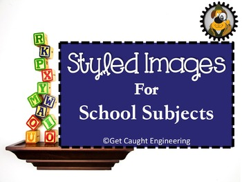 Styled Images for School Subjects