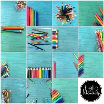 Styled Images for Teacherpreneurs: Beachy Desk (Personal & Commercial Use)