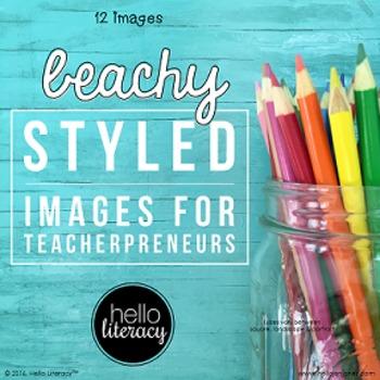 Styled Images for Teacherpreneurs: Beachy Desk (Personal &