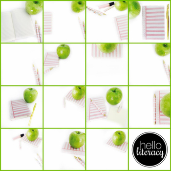 Styled Images for Teacherpreneurs: Green Apple Set (Personal & Commercial Use)