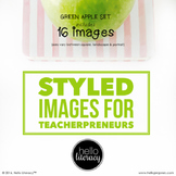 Styled Images for Teacherpreneurs: Green Apple Set (Person
