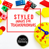 Styled Images for Teacherpreneurs: Math Class Set (Personal & Commercial Use)