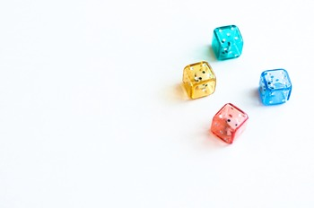 Stock Photo: Colorful Math Dice #2 -Personal & Commercial Use
