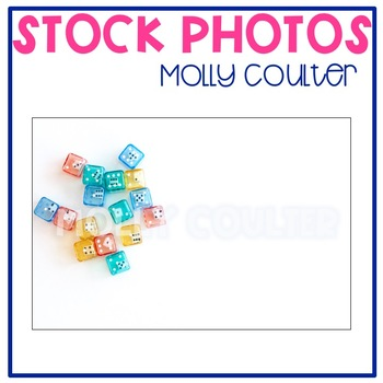 Stock Photo: Colorful Math Dice #1-Personal & Commercial Use
