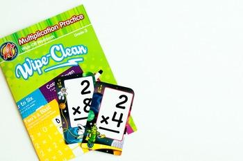 Stock Photo: Math Multiplication Flashcards#1 -Personal &